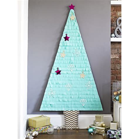 how to make a big christmas tree stickytiger fringe wall tree kit