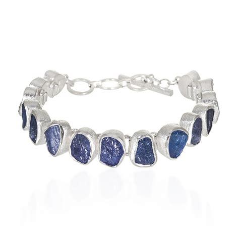 Handmade Sterling Silver Bracelets - tanzanite gemstone designer handmade sterling silver