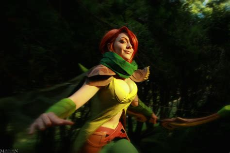 dota 2 cosplay wallpaper dota 2 windranger feel the wind in your hair by