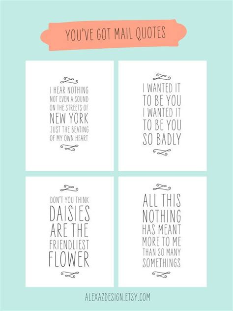 movie quotes you ve got mail you ve got mail quotes printable pacakge meg ryan