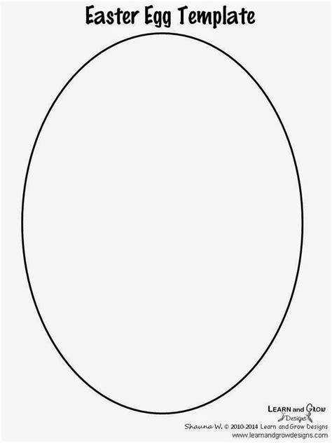 printable egg template learn and grow designs website april 2014