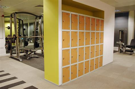 Lockers And Benches Gym Lockers With Laminated Trespa Doors Supplied By Ezr
