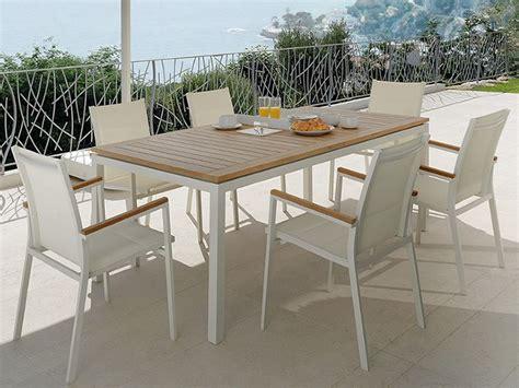 de salto tavoli timber t tavolo allungabile in alluminio e teak per