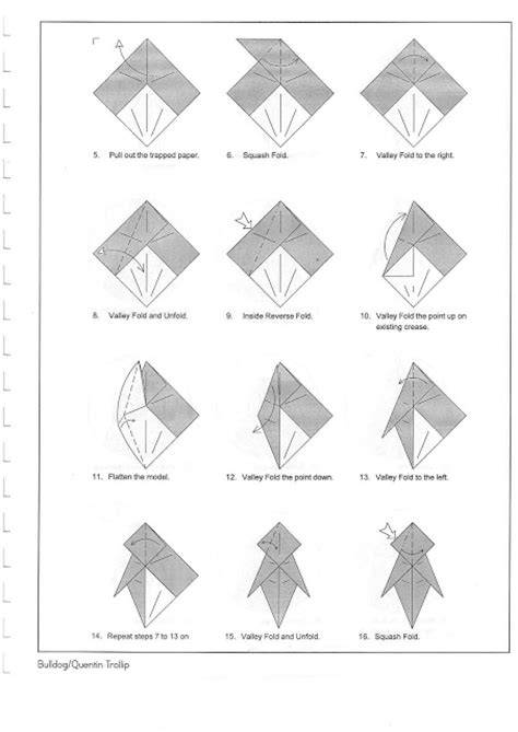 Bulldog Origami - origami bulldog make origami easy