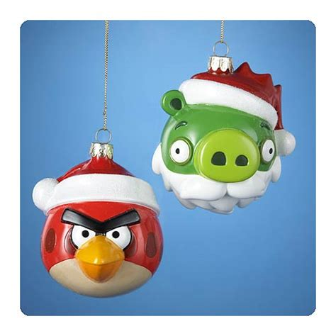 angry birds glass ornaments case kurt s adler angry