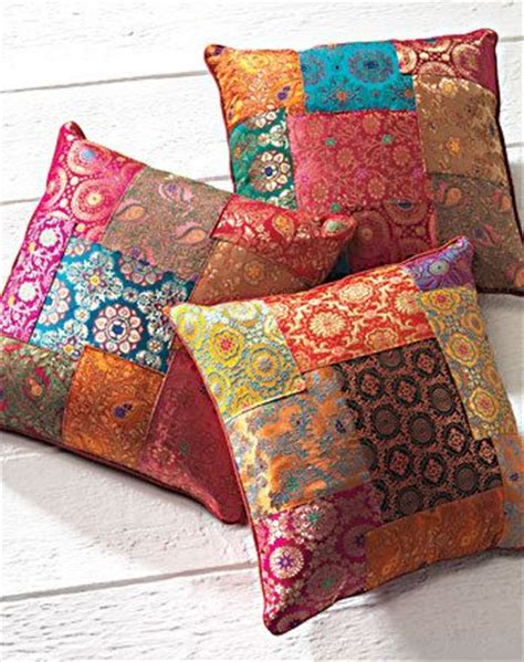 Design For Cushion Spurge Ideas Silky Patchwork Brocade Cushion Cover Cushions Cushions Style And Indian