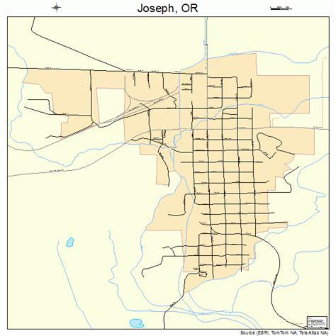 map of joseph oregon joseph oregon map 4137900