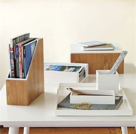 Accessories For Office Desk Lacquer Office Magazine Butler Contemporary Desk Accessories By West Elm