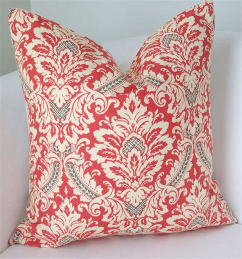 Decorative Coral Pillows by Gray Coral Pillow Cover Decorative Throw Pillow Damask Pillow