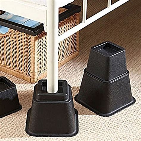 adjustable bed risers or furniture risers 3 5 or 8 inch bed riser table risers 712038167111 ebay