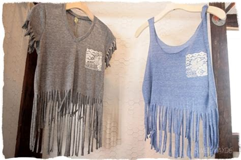 Fringes Shirt diy bottom fringe t shirt closet