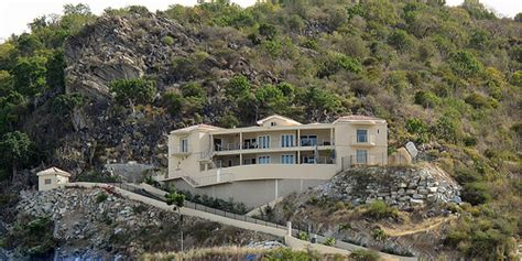 homes built into hillside house built into hillside on st martin a photo on