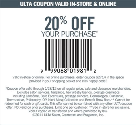ulta printable coupon 20 off 2015 ulta 20 off coupon and coupon code musings of a muse