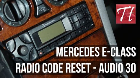 Mercedes Stereo Code by Mercedes E Class Enter Radio Code Reset Tutorial Audio