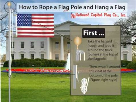how to hang a picture how to rope a flagpole and hang a flag youtube
