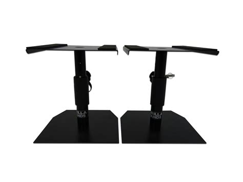 studio monitor desk stands gorilla gsm 50 desktop studio monitor stands pair