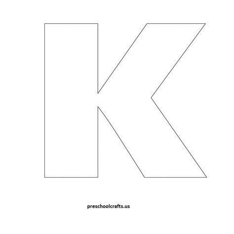 letter k template letter k crafts preschool and kindergarten