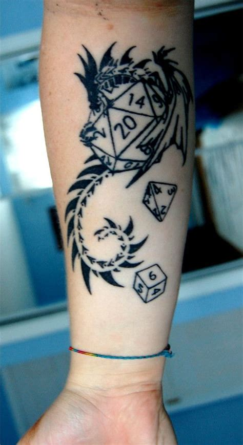 d20 tattoo dungeons and dragons 2 by dragonladycels on