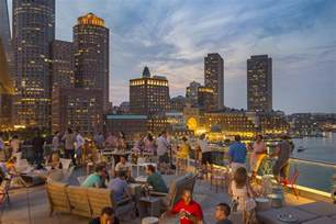 best rooftop bars in boston for great patios with great views