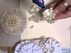 shabby chic pearl flower tutorial youtube