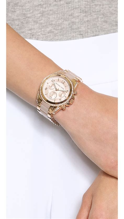 Michael kors Blair Watch Rose Gold in Metallic   Lyst