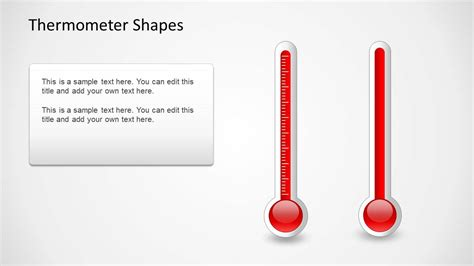 Thermometer Shapes For Powerpoint Slidemodel Thermometer For Powerpoint