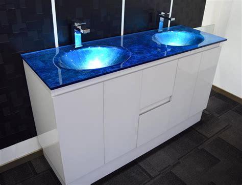 Bathroom Vanities Ebay Australia by Bathroom Vanity Unit Integrated Glass Top Cabinet Set
