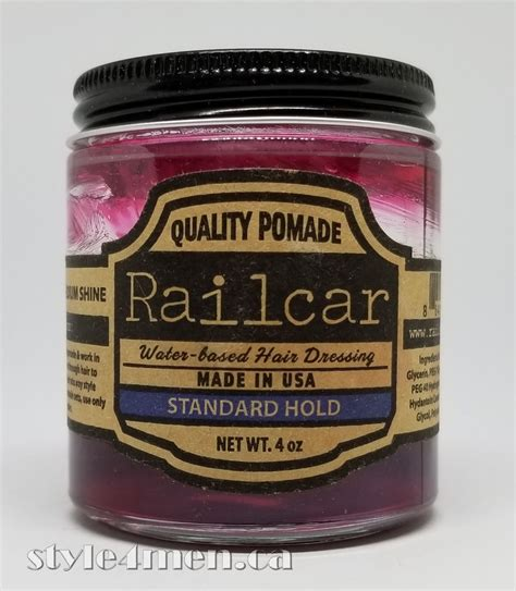 Pomade Railcar railcar a sweet luxurious pomade style4men ca