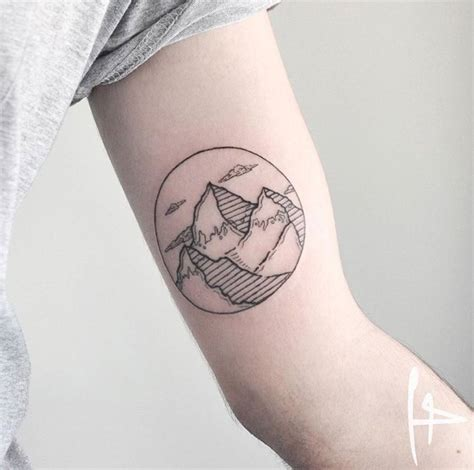 circle flower tattoo designs 16 amazing mountain tattoos on bicep