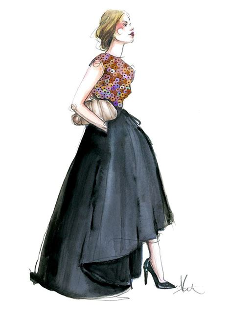 fashion illustration rodgers the sequin fanatic illustrator rodgers created in