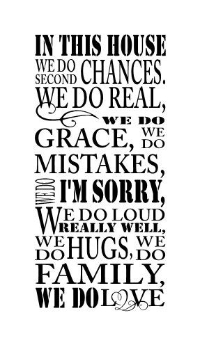 in this house wall sticker in this house we do second chances wall vinyl decal