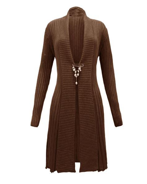 Dress With Cardigan 3 new womens knitted boyfriend brooched cardigan waterfall dress top jumper ebay
