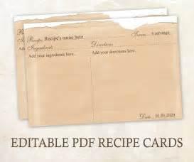 editable recipe cards 4x6 rustic recipe cards editable pdf
