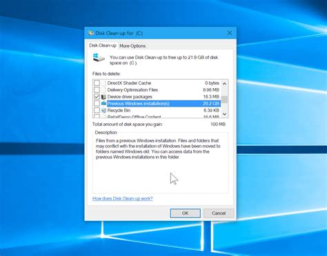 disk cleanup for android free up 20gb of drive space in windows 10 by cleaning up after the creators update