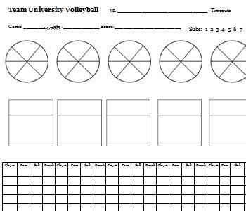 printable volleyball rotation sheets blank volleyball rotation sheets white gold