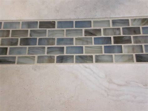 glass tile accents in bathroom shower enclosure w glass accent contemporary tile