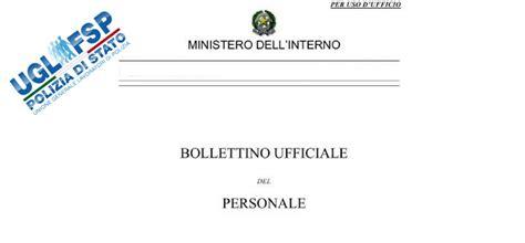 concorsi interni polizia di stato bollettino ufficiale personale decreti chiusura