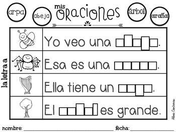 oraciones para ninos de kinder the sentence in spanish and sentences on pinterest