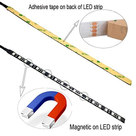 Magnetic Led Light Strips Autai Rgb Led Light With Remote And Magnetic For Computer Desertcart