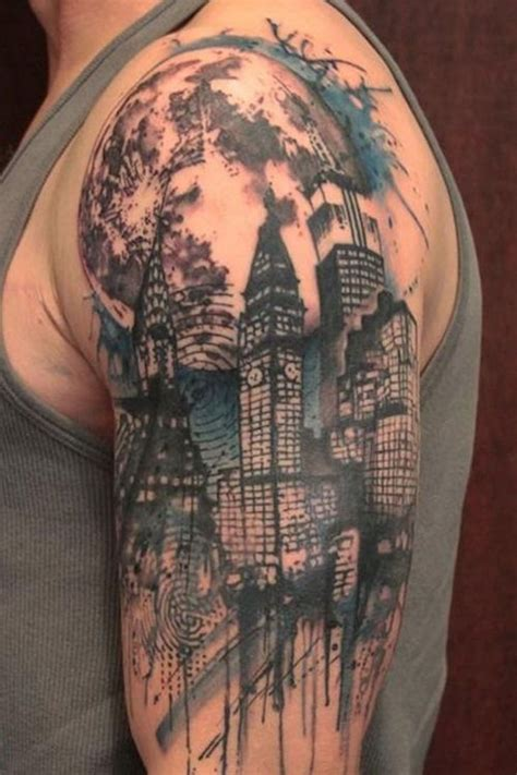 city line tattoo city skyline search work