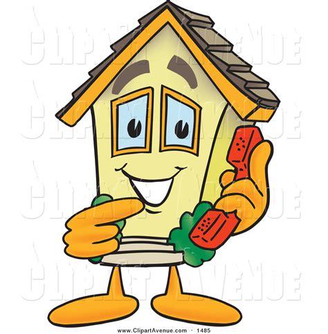 clipart   happy home cartoon character posing
