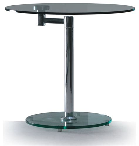 swivel top end table modern glass and chrome swivel side table anzio