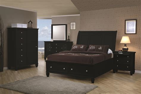 sandy beach bedroom collection coaster black sandy beach collection bedroom set with storage