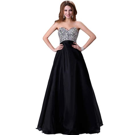 Longdress Sc 22050 beaded prom dresses gown the shoulder sequins evening dress black