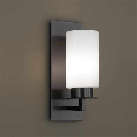 Designer Sconces Norwell Lighting Jade Sconce With Matte Opal Glass 9670