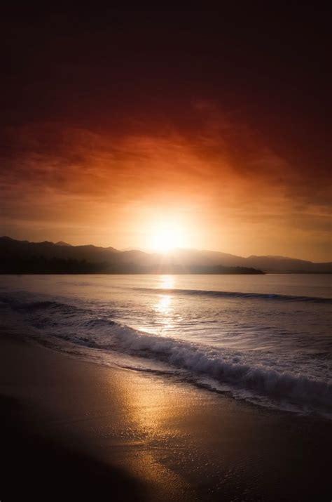 sunset beach portrait  stock  life  pix