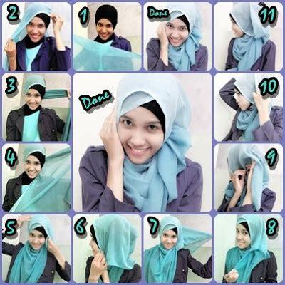 tutorial jilbab gantung tutorial berhijab modern terbaru 2013 cara memakai jilbab