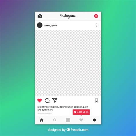 Instagram Post Template Instagram Post Template With Notifications Vector Free Download