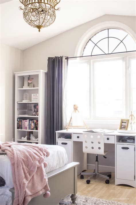 pink and gray bedroom wt do u think nersian s pink and gold girl s bedroom makeover reveal