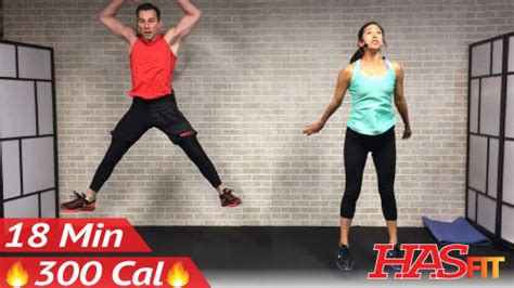 18 min hiit cardio workout no equipment at home hasfit